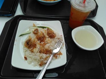 Lemon chicken rice.