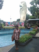 The Merlion outside