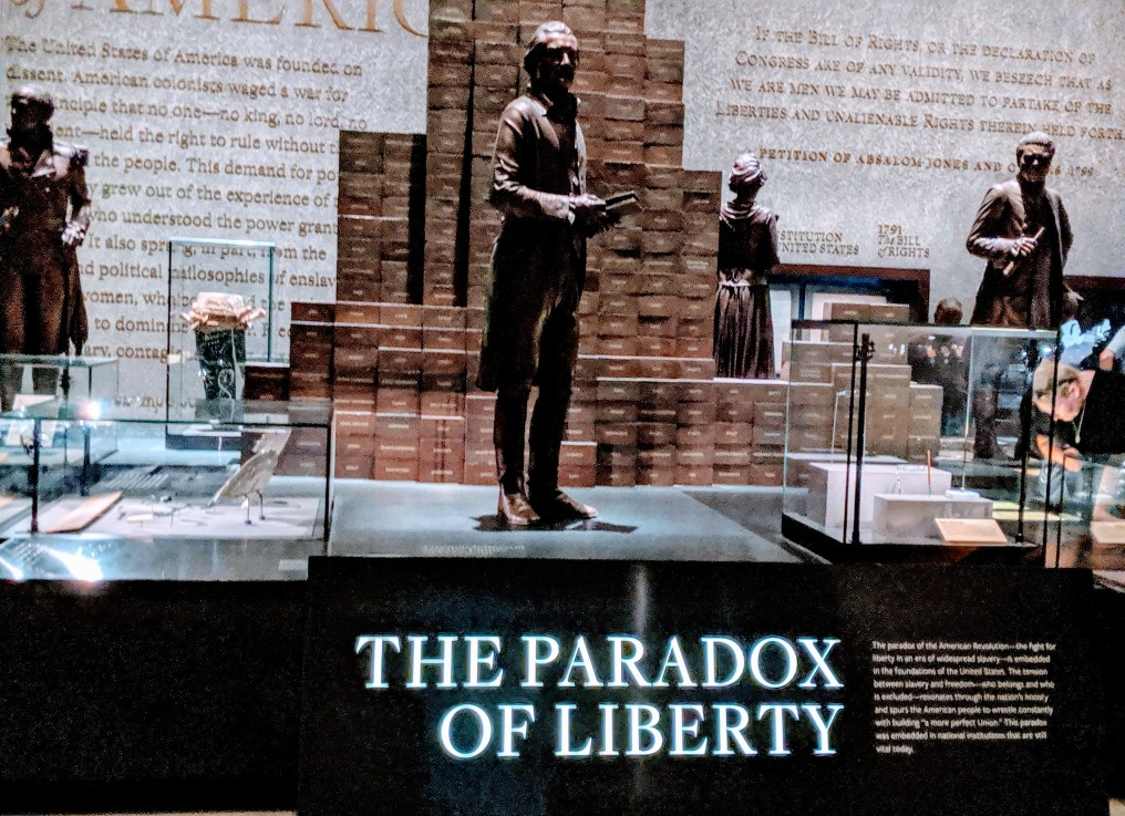'The Paradox of Liberty' exhibit.