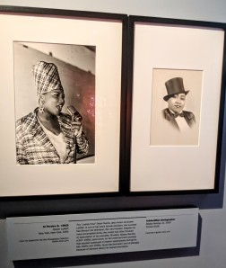 Exhibit on Queen Latifah and Gladys Bentley.