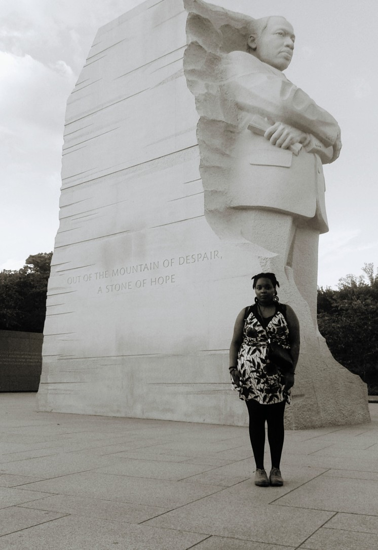 Me with the Martin Luther King Memorial.